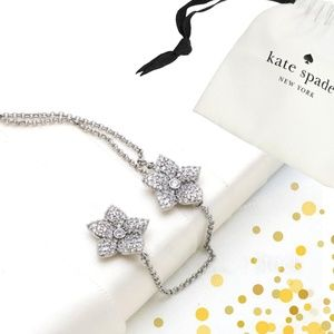 🎁 kate spade Silver blooming pave bloom necklace